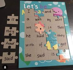 I cannot remember who i saw this amazing idea from, but we are focussing a lot on our sight words/tricky words this term! Kindergarten Reading, Preschool Learning, Kindergarten Classroom, Teaching Reading, Classroom Activities, Fun Learning, Learning Activities, Preschool Activities, Reading Games