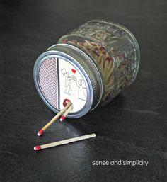 Sense and Simplicity: Mason Jar Matchbox