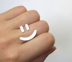 Cheerful Rings with International Signs from Smiling Silver Smith