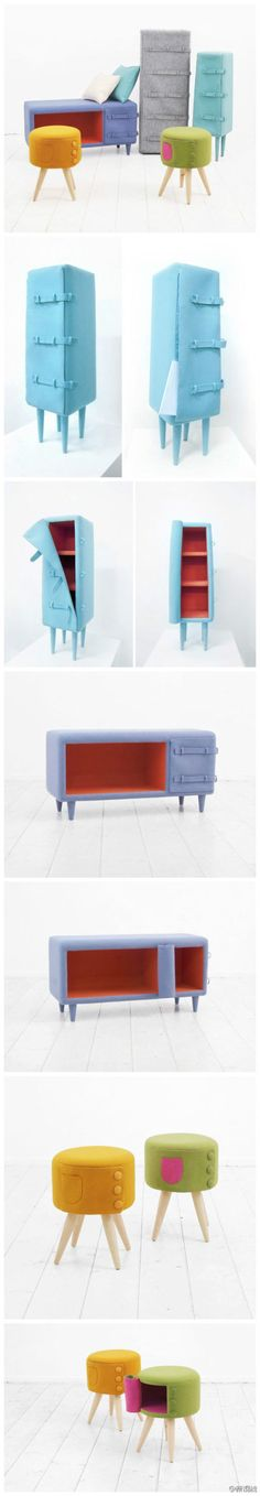 felt Felted furniture fold it up and take it where you go.