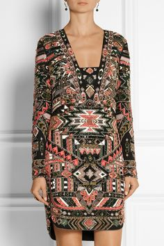 Emilio Pucci | Embellished silk mini dress | NET-A-PORTER.COM
