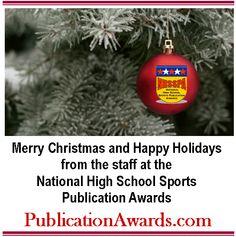 Facebook graphic promoting www.PublicationAwards.com National High School, Christmas Bulbs, Facebook, Words, Christmas Light Bulbs, Horse