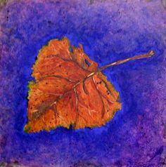 """Original Oil """"Catalpa Leaf"""" by Deborah Slocum"""