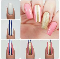 How to create the perfect striping tape design using our Small Straight Nail Vinyls found at snailvinyls.com