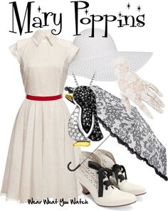 Inspired by Julie Andrews as Mary Poppins in 1964's Mary Poppins.