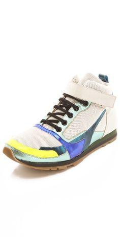 Jil Sander High Top Sneakers, $495