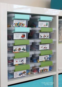 toy storage - Lego kits in clear containers Looking for a great Lego storage solution?  Check out the BOX4BLOX 2.0 Lego storage organizer that is now live on Kickstarter...