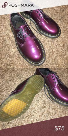 Dr martens purple patent leather Oxford shoes Dr martens purple patent leather Oxford shoes uk3, is 5.5 Dr. Martens Shoes Flats & Loafers