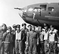 17 May The crew of the Flying Fortress 'Memphis Belle' becomes the first aircrew in the Air Force to complete a tour of duty. The crew and the aircraft will be returned to the US and tour the country on a War Bond drive. B 17, Ww2 Aircraft, Fighter Aircraft, Military Aircraft, Fighter Jets, Military Soldier, Military Life, Nose Art, Memphis Belle