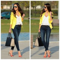 Panni in yellow blazer ::: StyleandBlog