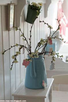 Spring branches for hanging Easter decorations