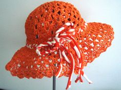https://flic.kr/p/7V2feo | Crocheted natural raffia Orange Summer Sun Hat | Ready to ship!!! This hat is made from orange natural raffia yarn. Original design, hand made by me.You can use it by the sea or by the pool. measurment: lenght:6.3 inches weight:9.8 inches Even though I love pets,this is made in a pet-free and smoke-free home  If you wish to place a custom order, please contact me and I will be happy to create the perfect piece for you :)