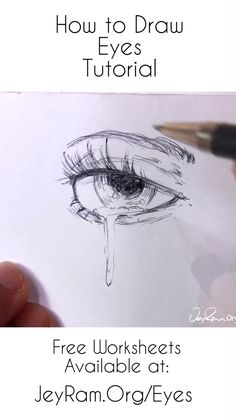 How to Draw Eyes: Step by Step for Beginners Free Printable PDF - Learn how to draw the eyes using this step by step process made for beginners. Grab the free worksh - Pencil Art Drawings, Art Drawings Sketches, Easy Drawings, Realistic Drawings, Drawing Techniques Pencil, Skull Drawings, Hipster Drawings, Pencil Sketching, Unique Drawings
