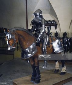 Stock Photo : Horse and knight armor, 1535, which belonged to Jakob Trapp VI, made in Innsbruck by armourer Hans Jorg Suesenhofer, Austria,…