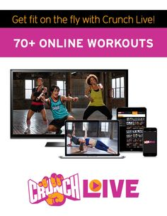 Get fit for summer while having lots of fun thanks to Crunch Live online workouts! From cardio and strength training to pilates, yoga and barre – there's a workout that's perfect for everyone.   Start your FREE 3-day trial today! #CrunchLive