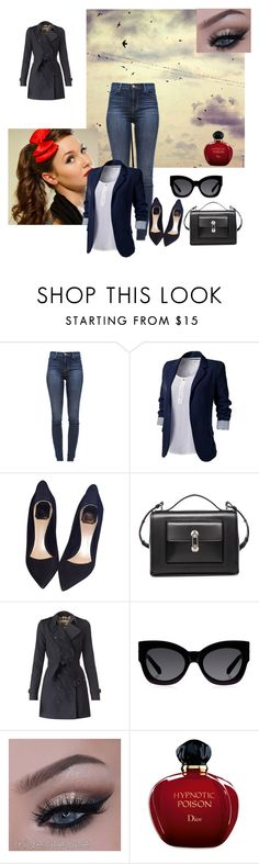 """""""Untitled #194"""" by melissa2009xd ❤ liked on Polyvore featuring J Brand, J.TOMSON, Christian Dior, Balenciaga, Burberry and Karen Walker"""
