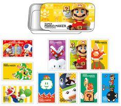 Super Mario Maker Stickers w/Slide Can Case B