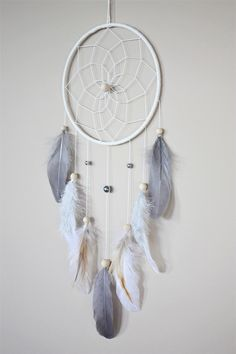 Small Gray Dream Catcher-Neutral Nursery Dream Catcher-Boy Nursery Decor-Woodland Nursery Girl Boy-Feather Dreamcatcher-Boy Girl Gift-Unisex - Excited to share the latest addition to my shop: Small Gray Cream Dream Catcher-Neutral Nurse - Blue Dream Catcher, Dream Catcher Decor, Dream Catcher Nursery, Diy Dream Catcher For Kids, Woodland Nursery Girl, Girl Nursery, Nursery Rugs, Nursery Ideas, Nursery Neutral