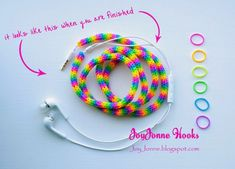 How To: Make a Colorful Earphone Cover with Loom Elastics » Curbly | DIY Design Community