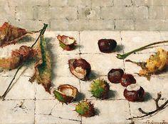 Lucie van Dam van Isselt    Still Life with Chestnuts    20th century