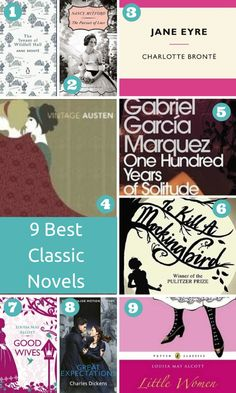 9 Must Read Classic Novels. These 9 Classic Books have stood the test of time and will bring joy to anyone who reads them. via Natasha Lester, author.