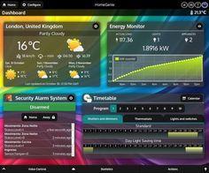 HomeGenie Web UI - Dashboard