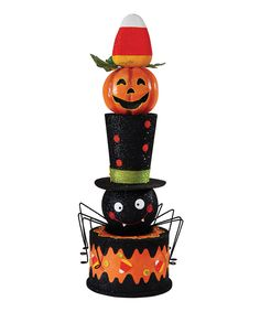 Look what I found on #zulily! Stacked Halloween Décor by C & F #zulilyfinds