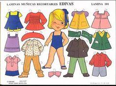 Los duendes y hadas de Ludi: Muñecas Recortables