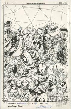 Avengers: Visionaries: George Perez Cover Comic Art