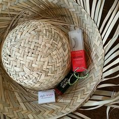 Spring Break Set #2 A cute set of things to make your Spring Break memorable!  1 straw hat, one size fits all. Pair of NWOT silver tone and neon green hoop earrings. Travel sized eyeshadow, never swatched. False eyelashes, sealed in box. Full sized lipstick in a deep red, sealed. Original price is approximate value for the set. Accessories