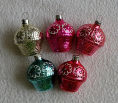 Items similar to 5 Vintage Christmas Tree Toys, Basket Christmas ornaments, varicolored Soviet Christmas decorations, USSR glass toy, Russian New Year decor on Etsy Christmas Baskets, Glass Christmas Tree, Christmas And New Year, Vintage Christmas, Christmas Bulbs, Christmas Decorations, Holiday Decor, Glass Toys, Toy Basket
