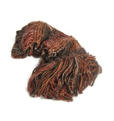 Chocolate Scarf Brown Scarf Knit Scarf Hand by ArlenesBoutique, $45.00