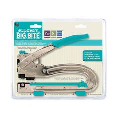 Crop-A-Dile / Big Bite - univerzální kleště pro scrapbook - Scrapbookové kleště pro snadné děrování. Vytvoří díru až 15cm vzdálenou od hrany papíru. Slouží k děrování, připevnění cvočků, eylets, apod.