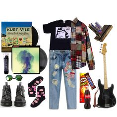 Altbaltcalt by pallo on Polyvore featuring moda, Monki, Dr. Martens, Urban Outfitters, Warpaint and Moleskine