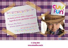 Estamos na temporada de festas juninas! Que tal deixar as meninas ainda mais lindas pra estas festas no Cuts & Fun - Salão Infantil?