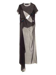 Swarovski-embellished asymmetric silk top