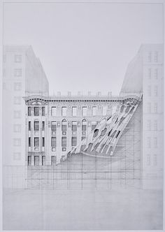 Open Call: Drawing of the Year 2015,First prize, Drawing of the Year 2014: Olga Krukovskaya, Russia. Image via Aarhus School of Architecture