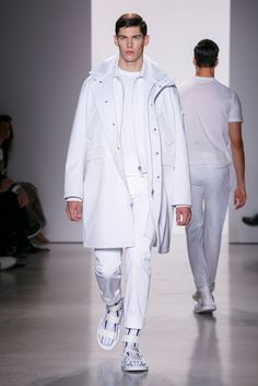 A look from the Calvin Klein Collection Spring 2016 Menswear collection.