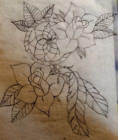 Rose Dream Catcher Tattoo Sketch drawn by Me