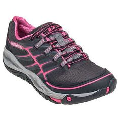 Womens Merrell Allout Rush Trail Running Shoes Size 6 Black Pink Grey J06482