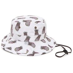 Neff Pineapple Bucket Hat ($32) ❤ liked on Polyvore featuring accessories, hats, pineapple hat, strap hats, bucket hats, neff and fisherman hat