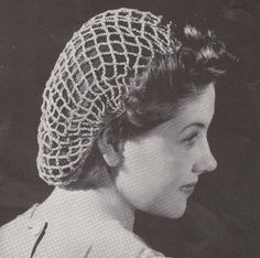 Crochet Hair On Net Cap : Beach Net Crochet Snood Hat Cap Crocheted Hairnet Hair Net Pattern.