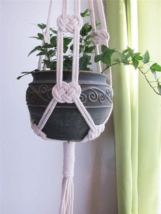 How To Make Macrame Plant Hanger DIY 99 Inspiring Projects picture onlyThe Macrame plant hanger is one of many forms of yarn, and it regains the attention it deserves. Macrame plant hangers are a great way to provide retro quality to your home while DIY m Macrame Design, Macrame Art, Macrame Projects, Macrame Knots, Diy Projects, How To Macrame, Plant Projects, Rope Knots, Micro Macrame