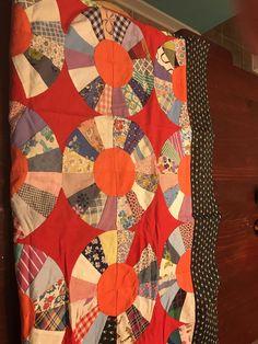 Vintage Quilt Top Handmade Unfinished