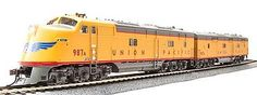 Broadway Limited Imports EMD E-6 A/B Set Union Pacific with Sound -- HO Scale Model Train Diesel Locomotive -- #2331