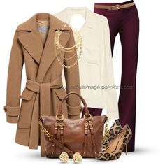 Working Girl created by uniqueimage on Outfit Fashion Mode, Work Fashion, Fashion Looks, Fashion Outfits, Red Outfits, Style Work, Style Me, Winter Stil, Work Wardrobe