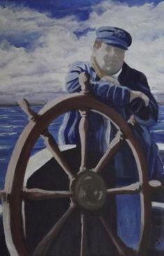"""""""Big Wheel"""" an ink transfer and acrylic, 8 x 10. www.gaylehalliwell.com"""