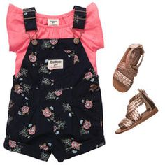 Flower Bunches- Osh Kosh B'Gosh girls overalls
