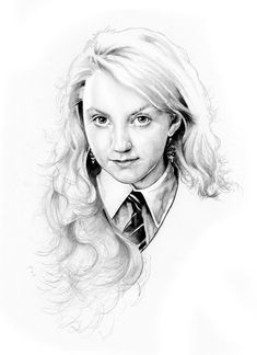 Luna Lovegood It's her birthday today! Harry Potter Sketch, Harry Potter Artwork, Harry Potter Pictures, Harry Potter Drawings, Harry Potter Wallpaper, Harry Potter Fan Art, Harry Potter Characters, Harry Potter Movies, Harry Potter World