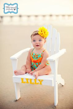 Love the monogrammed chair for photos Family Beach Pictures, Baby Pictures, Baby Photos, Family Pics, Toddler Photography, Newborn Photography, Photography Ideas, Beach Photography, Chubby Cheek Photography
